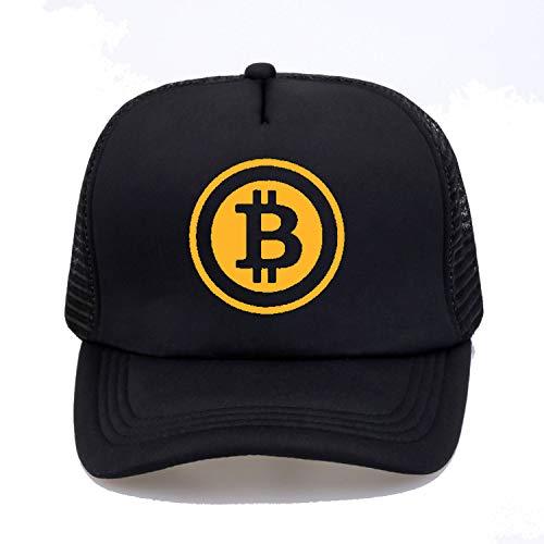 New Men Women Trucker Cap Hat Bitcoin Bit Coin Mining Funny Baseball caps Summer Hip Hop Mesh Cool Caps Hat Black