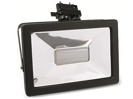 50W 6000K schwarz 3-Phasen LED-Strahler 230V 3750lm