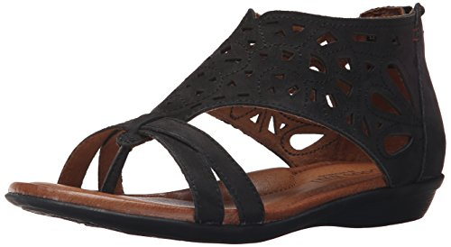 Cobb Hill Women's Jordan Flat Sandal, Black, 11 C/D US by Cobb Hill