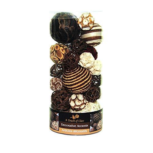 Balls Decorative Glass (Lerman Decor WBF113 Decorative Bowl Filler, Chocolate Brown)