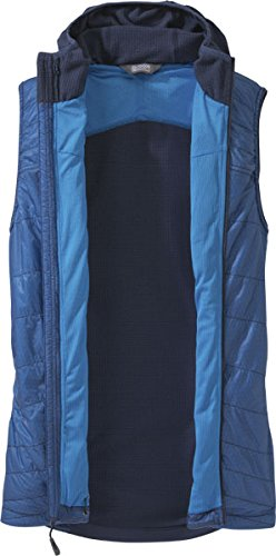Outdoor Research Men's Deviator Hooded Vest, Night/Hydro, Medium