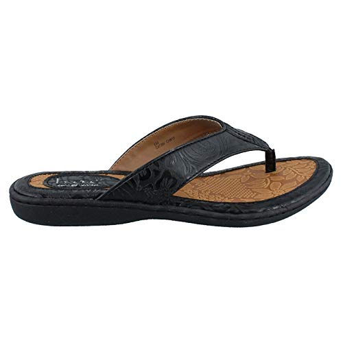 Women's BOC Born Concept, Zita Thong Sandal Black Tooled 11 M