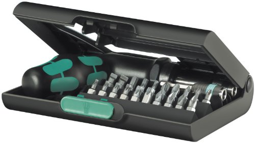 Wera KK 90 SAE Kraftform Ratchet and Bit Set with Rapidaptor One-Hand Technology, 22-Piece by Wera