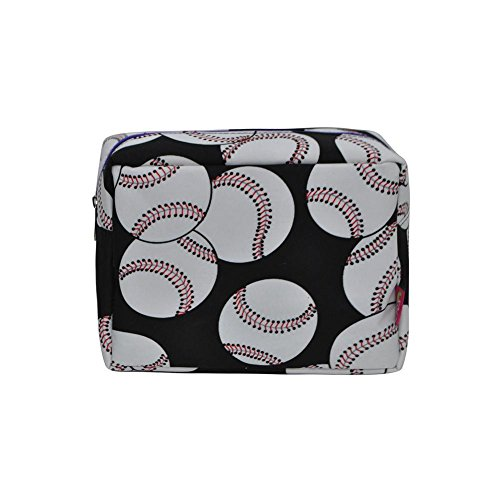 N. Gil Large Travel Cosmetic Pouch Bag 2 (Baseball Purple)