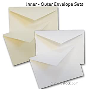 amazon com cougar white a7 inner outer envelope sets 25 pack