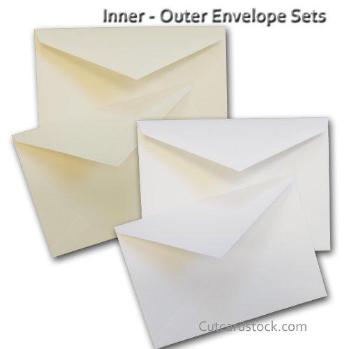 (Cougar White A7+ Inner & Outer Envelope Sets - 25 Pack (Monona))
