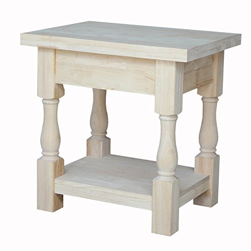 Tuscan Kitchen Furniture (International Concepts Tuscan End Table, 19 by 16-Inch)