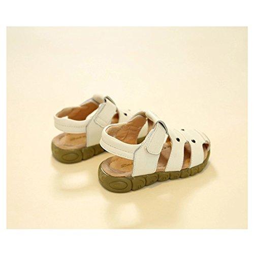 Eagsouni® Unisex-Kinder Klettverschluss Geschlossen-Toe weichen Sohlen Strand Flache Schuhe (Kleinkind / Little Kid / Big Kid) Weiß