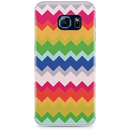 Phone Case For Apple iPhone 5C - Multicolor Chevron Rainbow Hard Designer
