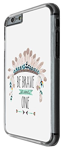 933 - cool cute american indian feather helmet fun quote be brave Design For iphone 5C Fashion Trend CASE Back COVER Plastic&Thin Metal -Clear