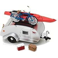 Greenlight Collectibles–Teartrop Caravana con Bicicleta y Kanoe, 18420a