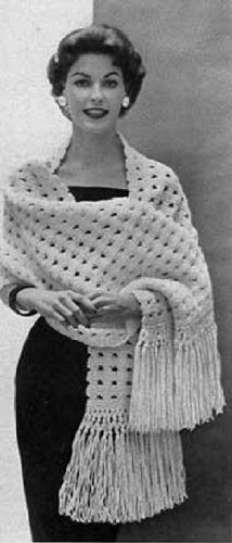 HARMONY SHAWL - Downloadable vintage 1953 Knitting Pattern. Text-to-Speech enabled. Available for Download to Kindle DX, Kindle for PC, Mac, iPhone, Blackberry, ... stole, yarn, craft, women, girl, clothing)