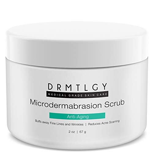 DRMTLGY Microdermabrasion Facial Scrub and Face Exfoliator. Natural Non-Abrasive Face Exfoliator Improves Acne Scars, Blackheads, Pore Size, and Skin Texture. 2 oz