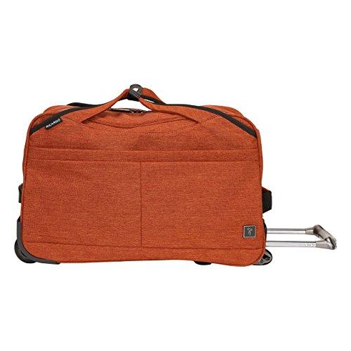 Ricardo Beverly Hills Malibu Bay 20-inch Rolling City Duffel Bag Carry-On Luggage, Orange