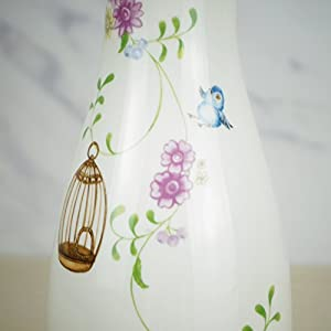 8'' Small White Ceramic Flower Vase Home Decor Vase and Table Centerpieces Vase - Ideal Gifts for Friends and Family, Christmas, Wedding, Bridal Shower 5
