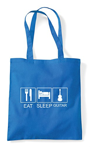 Sapphire Bag Eat Acoustic Sleep Tote Funny Hobby Shopper Tiles Activity Guitar vv8qwTxr