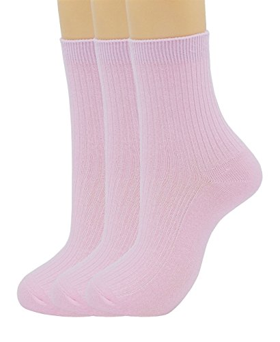 SRYL womens Super soft Combed cotton socks 3-Pairs,5-Pairs(Multicolor may choose)C310 (3 pairs-Light pink) from SRYL