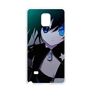 Durable Rubber Cases Samsung Galaxy Note 4 N9108 White Cell phone Case Jclcd Black Rock Shooter Protection Cover