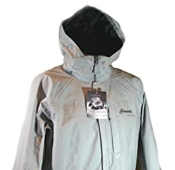 Cloudveil Men's Shell Weather Resistant Hooded Outerwear Jacket Coat Gray (S)