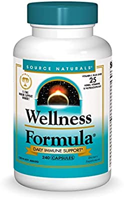 Amazon Com Source Naturals Wellness Formula Bio Aligned Vitamins Herbal Defense For Immune System Support Dietary Supplement Immunity Booster 240 Capsules Health Personal Care