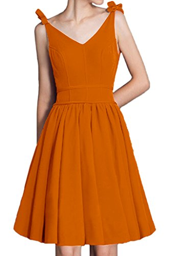 Neck Captivating Orange Avril Empire Dress V Homecoming Bridesmaid Straps Dress Short ZY5qqFwxp