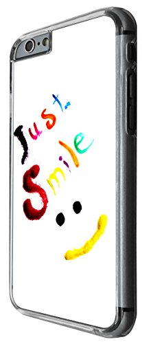 1023 - cool fun cute quote just smile colourful smiley face Design For iphone 6 6S 4.7'' Fashion Trend CASE Back COVER Plastic&Thin Metal -Clear