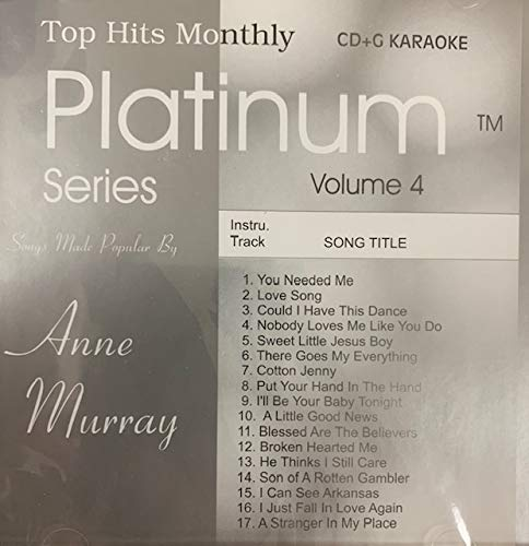 - Top Hits Monthly Platinum Series Vol. 4 - Anne Murray (Karaoke)