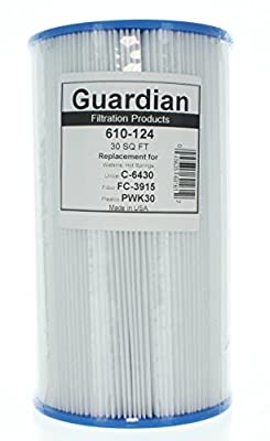 Guardian Filtration Products, Replacement Pool Spa Filter, for Watkins Hot Springs C6430, Unicel C-6430, Pleatco PWK30, Filbur FC-3915, 5 Pack