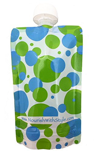 UPC 773554081022, Reusable Baby Food Pouch - 10 Pack Polka Dot - 5 oz size by Nourish with Style