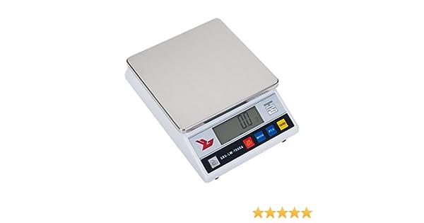 Steinberg Systems Balanza de precisión Báscula digital SBS-LW-7500A (7500 g, Precisión 0,1 g, 4 Funciones, cambio de unidad, 18 x 18cm, Pantalla LCD) ...