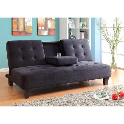 Amazon.com: Milton verdes estrellas 7501bk Madrid futon sofá ...