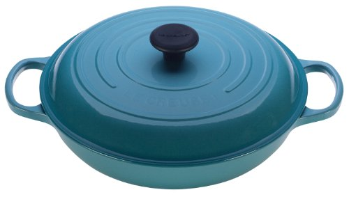 Le Creuset Signature Enameled Cast-Iron 3-3/4-Quart Round Braiser, Caribbean