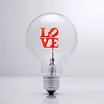 Darksteve Simple Love Vintage Light Bulb Edison Style G80 E26 Screw Filament Decorative Light Bulbs 1 Unique Gift