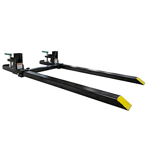 (Clamp on Pallet Forks w/ Adjustable Stabilizer Bar LW for loaders 1500lb )