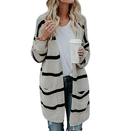 Maglia Cardigan Donna Con Albicocca Coprispalle Lavorato Cozy Autumn Coat Cappuccio A Warm Huateng Winter Righe Da Cape tqFxd4dRn