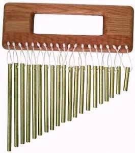 Hand Held 20-Bar Brass Chimes by A Day's Work