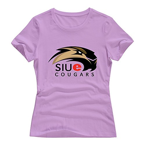 Pink 100% Cotton SIU Edwardsville Cougars T-shirts For Womens Size XXL