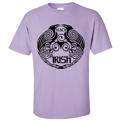 St Patricks Black Irish Celtic Raven T-shirt/tee - Orchid (Black Orchid Martini)