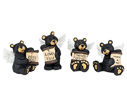 Angel Bears Decorative Tabletop Figurines
