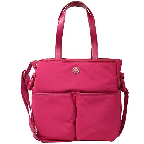 Tory Burch Dena Nylon Baby Bag with Changing Pad (Carnation - Tory Baby Burch