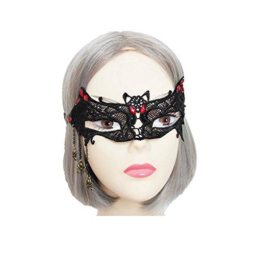 Gothic Bat Spider Lace half Mask for (Evil Pumpkin Faces)