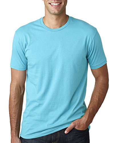 (Next Level Premium Fit Extreme Soft Rib Knit Jersey T-Shirt, Tahiti Blue, XS)