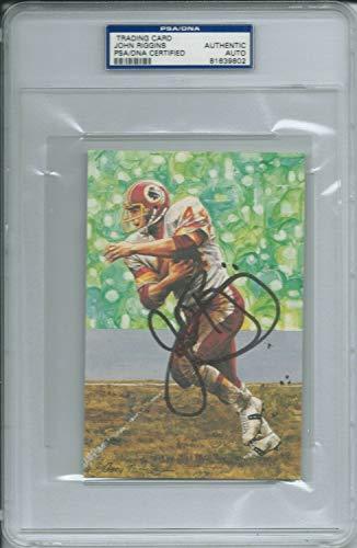 John Riggins Redskins Goal Line Art Postcard Autographed Signed PSA/DNA Autograph Slabbed from Sports Collectibles Online