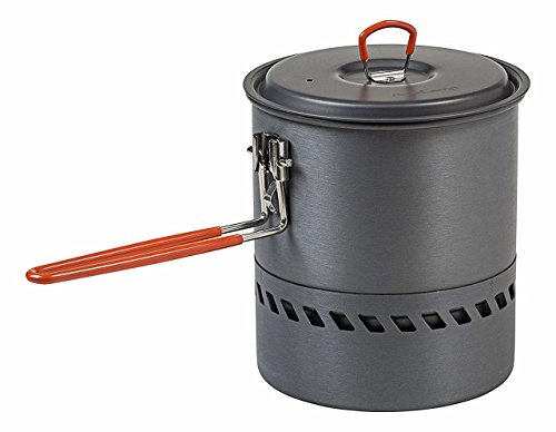 - AceCamp Hard-Anodized Aluminum Hi-Efficiency Pot with Heat Exchanger, Lightweight Cooking Outdoor Equipment, Compact Portable Camping Cookware, 1.5 L