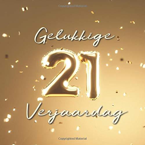 Welp Gelukkige 21e Verjaardag: Gastenboek voor de Verjaardag GN-61