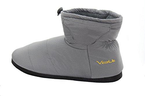 Volt Unisex Indoor Outdoor Heated Slippers-Grey-L