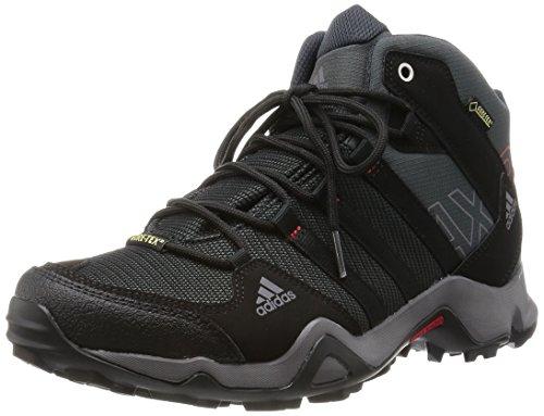 adidas AX 2.0 Mid GTX, Herren Trekking- & Wanderstiefel, Grau (Dark Shale/Black 1/Light Scarlet), 44 EU (9.5 Herren UK)