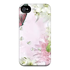 Hot New Chrysanthemum Surprises Case Cover For Iphone 4/4s With Perfect Design