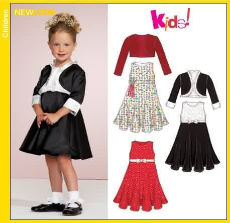 Simplicity #New Look Simplicity #6551 Beautiful Infant & Toddler Dress and Bolero Shrug Sewing Pattern Size 6551