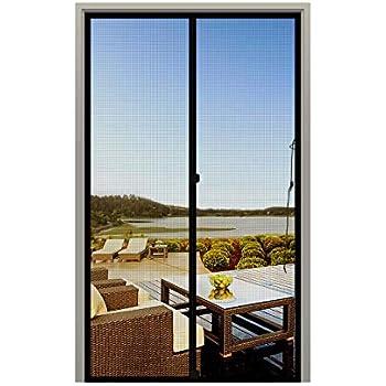 MAGZO Screen Door Magnets 36 x 80, Durable Fiberglass Door Mesh with Full Frame Hook&Loop for Sliding Door Fits Door Size up to 36